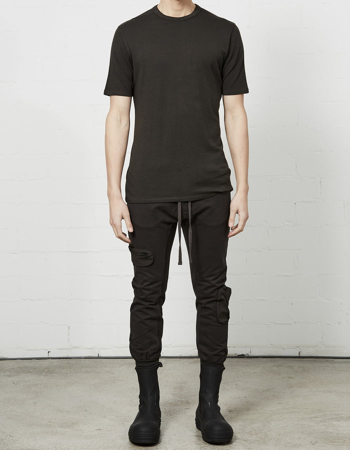 THOM KROM STRETCH COTTON MODAL FITTED CREW - BROWN
