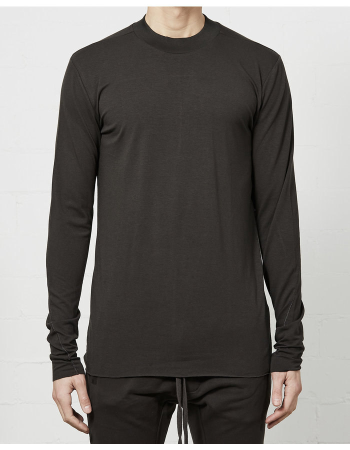 THOM KROM STRETCH COTTON & BAMBOO LONG SLEEVE - BROWN