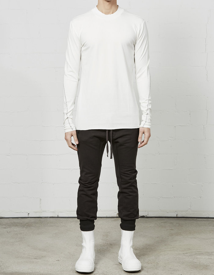 THOM KROM STRETCH COTTON & BAMBOO LONG SLEEVE - OFF WHITE