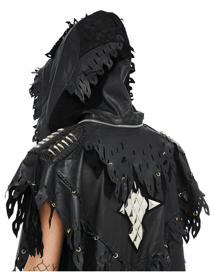 KD 2024 NOMADIC PONCHO LEATHER + STERLING SILVER