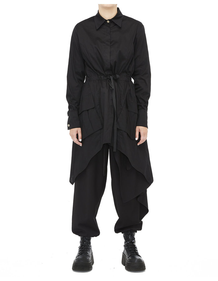 LA HAINE INSIDE US BELTED DOVETAIL CARGO BLOUSE