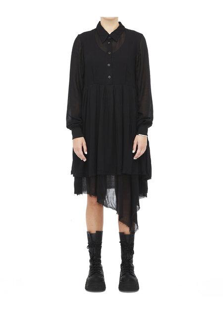 STUDIO B3 VISCOSE & WOOL RELAXED SHIRT DRESS