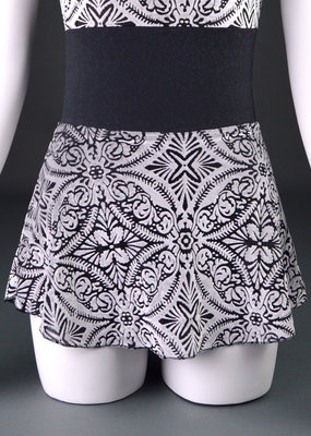 Suffolk 1009A Holiday High Low Pull-On Skirt