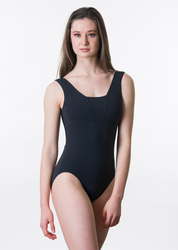 Suffolk 2215A 'V' Neck Tank with Low Mesh Cross Back