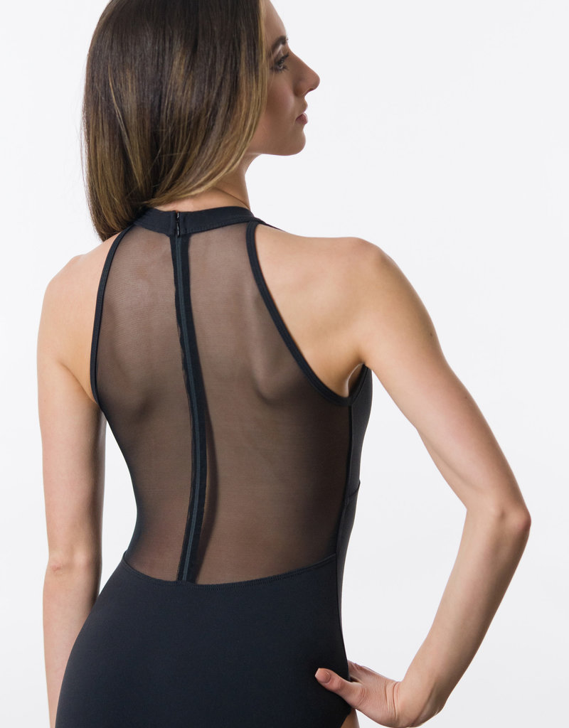 Suffolk 2286A Mock Turtleneck with Mesh Zip Back