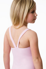 Suffolk 2160C Thick Strap Leotard with Lace Overlay