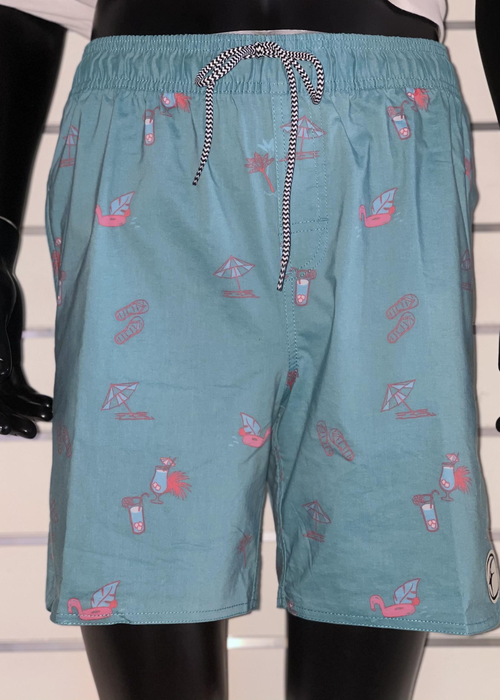 FREE YOUR MIND Flamingo Elastic Shorts