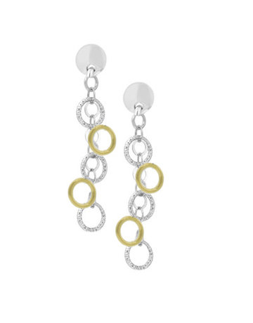 Frederic Duclos SS and Yellow Gold Plated Imagination Earrings