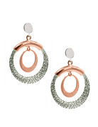 Frederic Duclos Frederic Duclos Sterling Silver and Rose Gold plated Denise Earrings