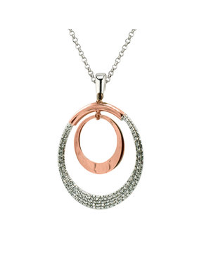 Frederic Duclos Sterling Silver and Rose Gold Plated Denise Necklace