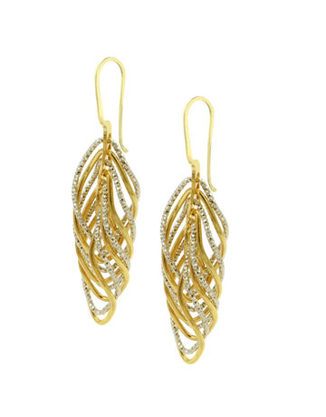 Frederic Duclos Sterling Silver and Yellow Gold plated Vortex Earrings
