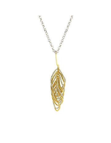 Frederic Duclos Sterling Silver and Yellow Gold Plated Vortex Necklace
