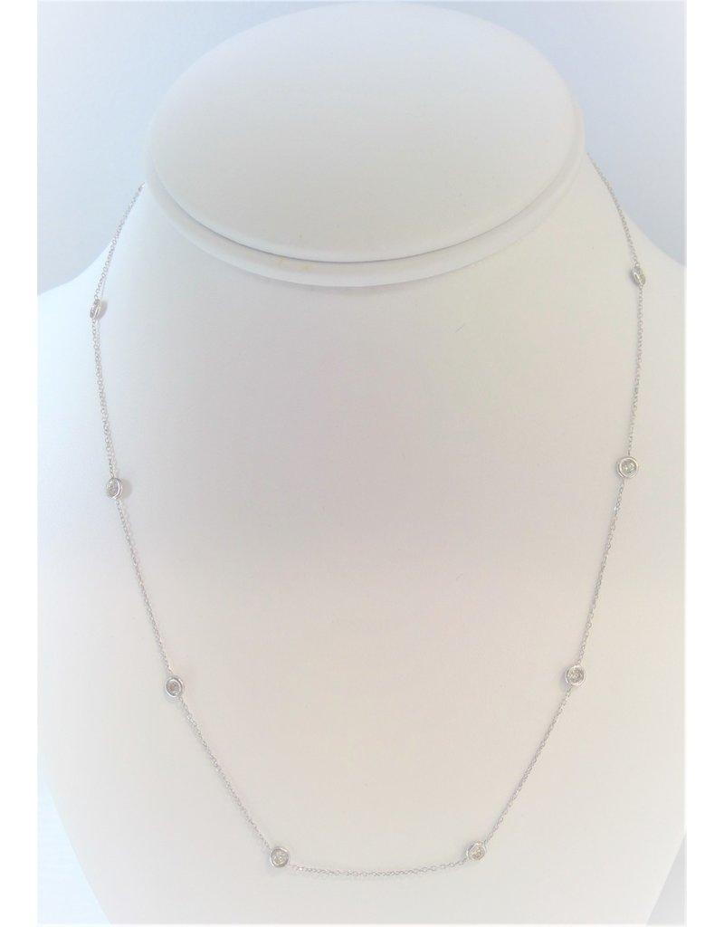 Franklin Jewelers 14kt W 1/2cttw DBTY Fly Necklace