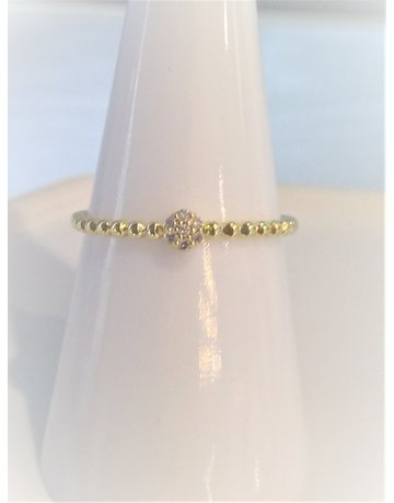 Franklin Jewelers 10kt Yellow Diamond Cluster Fashion Ring