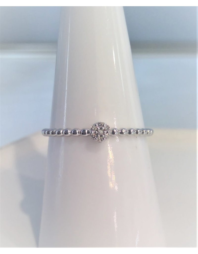 Franklin Jewelers 10kt White Gold Diamond Cluster Fashion Ring