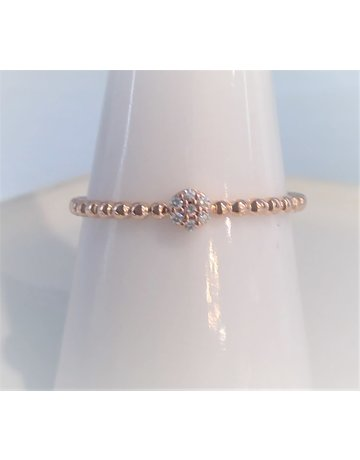 Franklin Jewelers 10kt Rose Gold Diamond Cluster Fashion Ring