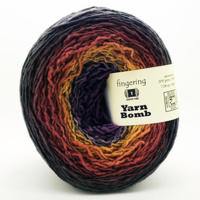 Ombre Fingering Yarn Bombs Dusk