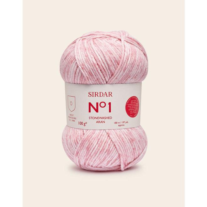 No 1 Aran Stonewashed 0801 Pink Rinse