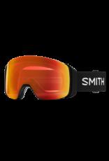 SMITH 4D MAG Black Everyday Red Mirror w /Chromapop Storm Yellow Flash