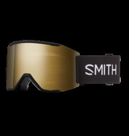 SMITH SQUAD MAG Black w/ Chromapop Sun Black Gold Mirror and Storm Rose Flash