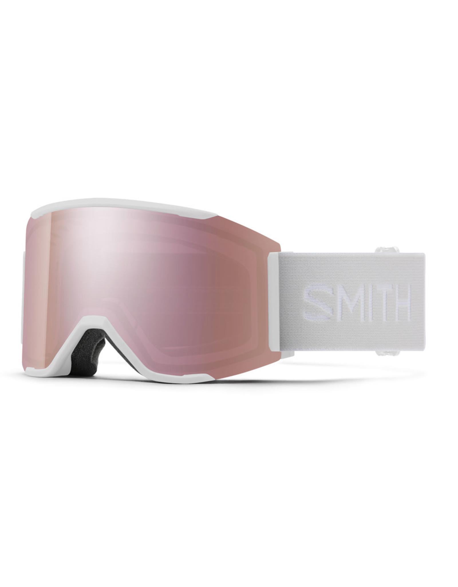 SMITH SQUAD MAG WHITE VAPOR ROSE GOLD MIRROR