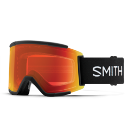 SMITH SQUAD XL Black w/Chromapop Everyday Red Mirror and Storm Rose Flash