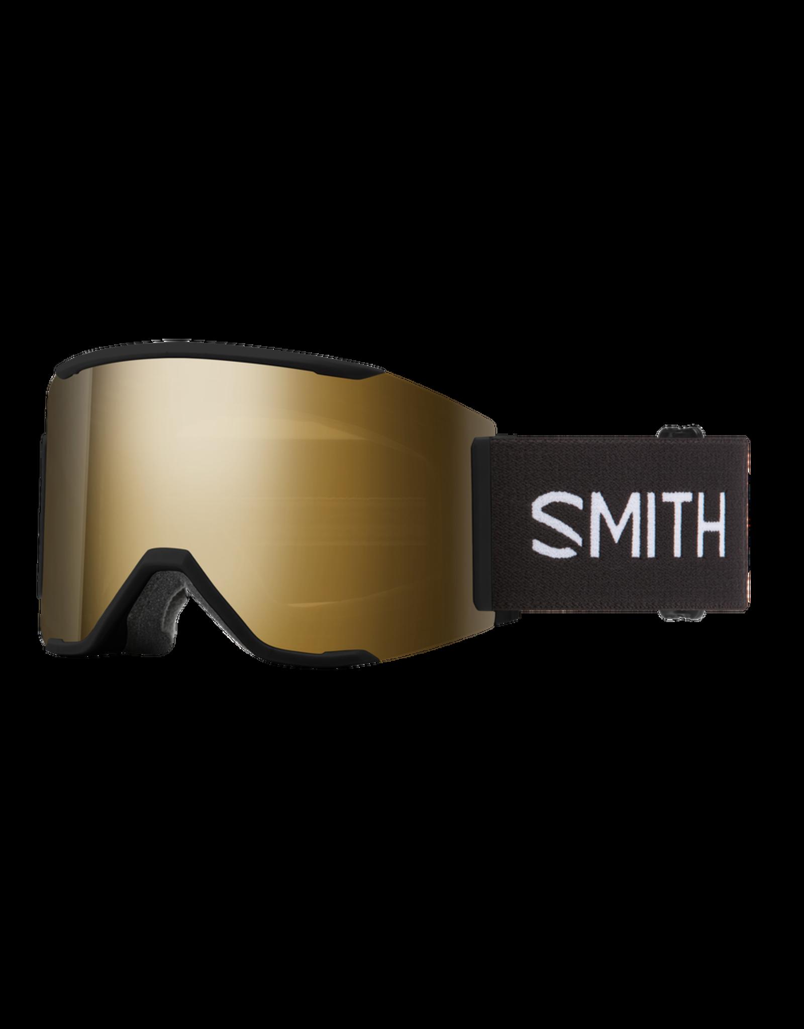 SMITH SQUAD XL BLACK SUN BLACK GOLD MIRROR
