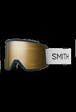 SMITH SQUAD XL FRENCH NAVY MOD SUN BLACK GOLD MIRROR W21