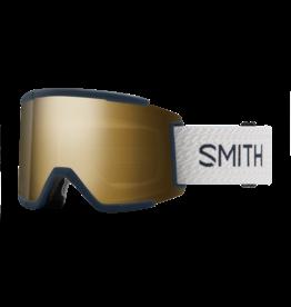 SMITH SQUAD XL French Navy Mod w/Chromapop Sun Black Gold Mirrorand Storm Rose Flash