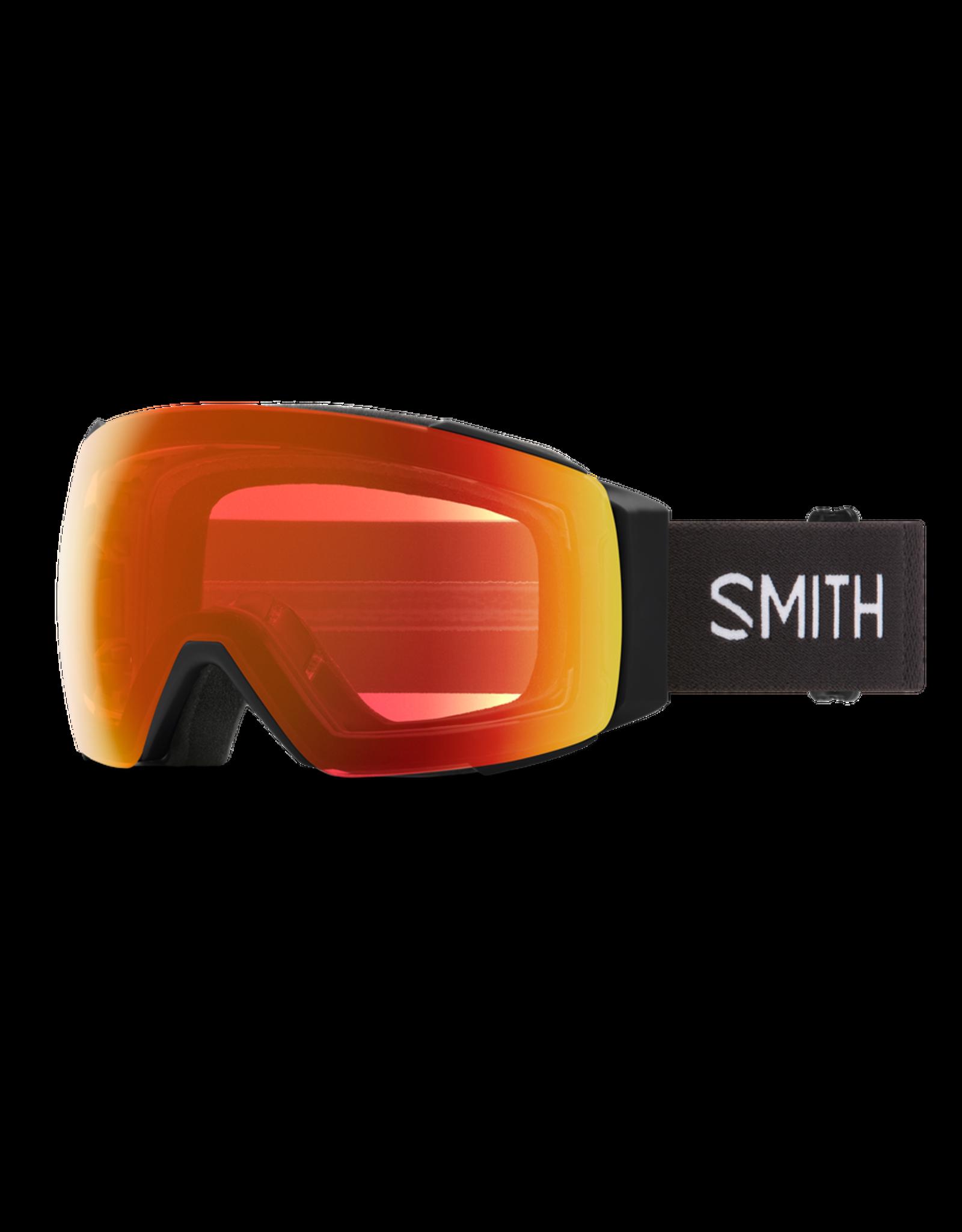 SMITH I/O MAG Black w/Chromapop Everyday Red Mirror and Chromapop Storm Yellow Flash