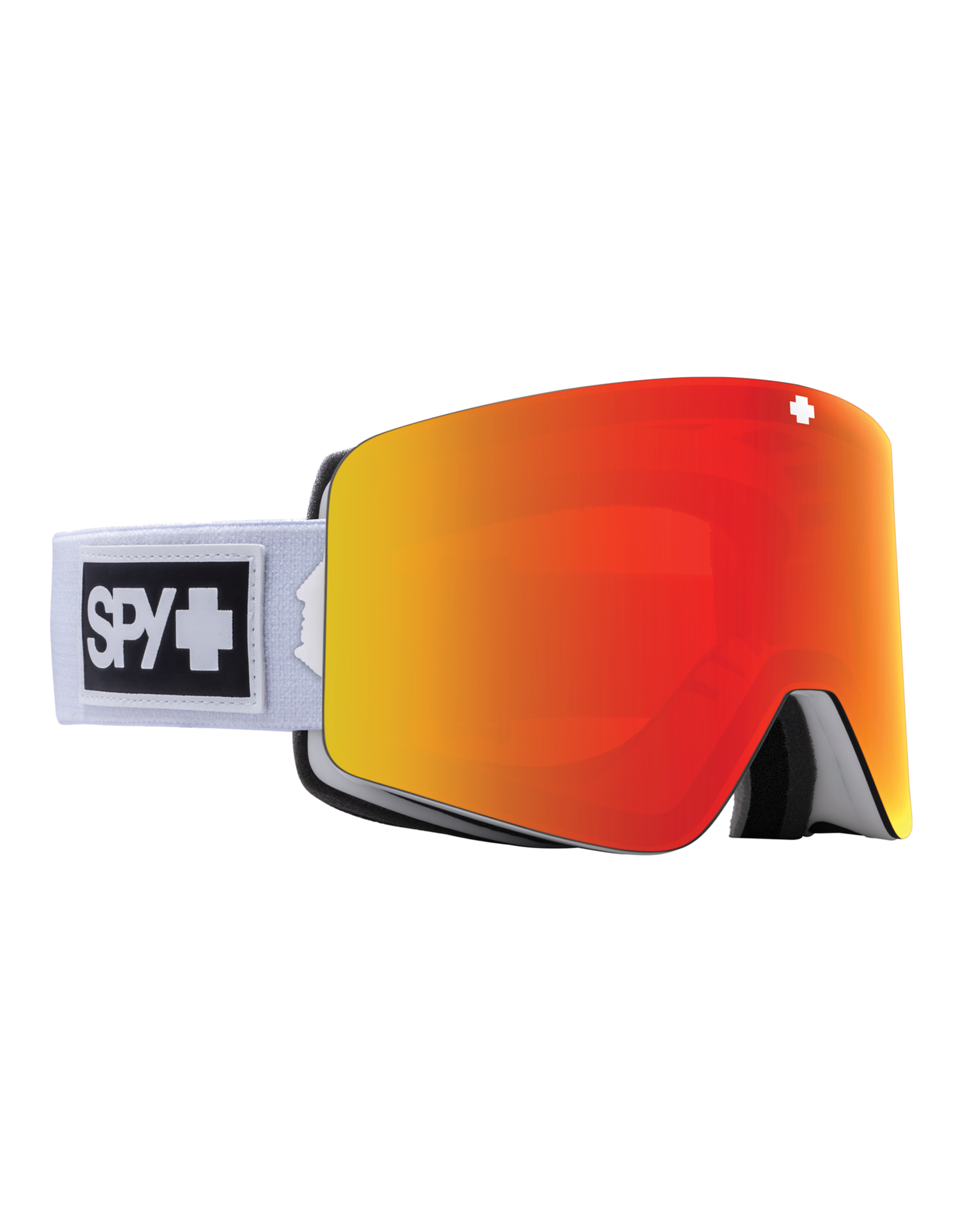 SPY Marauder Matte White w/HD Plus Bronze/Red Spectra Mirror and HD Plus LL Yellow/Green Spectra Mirror W21