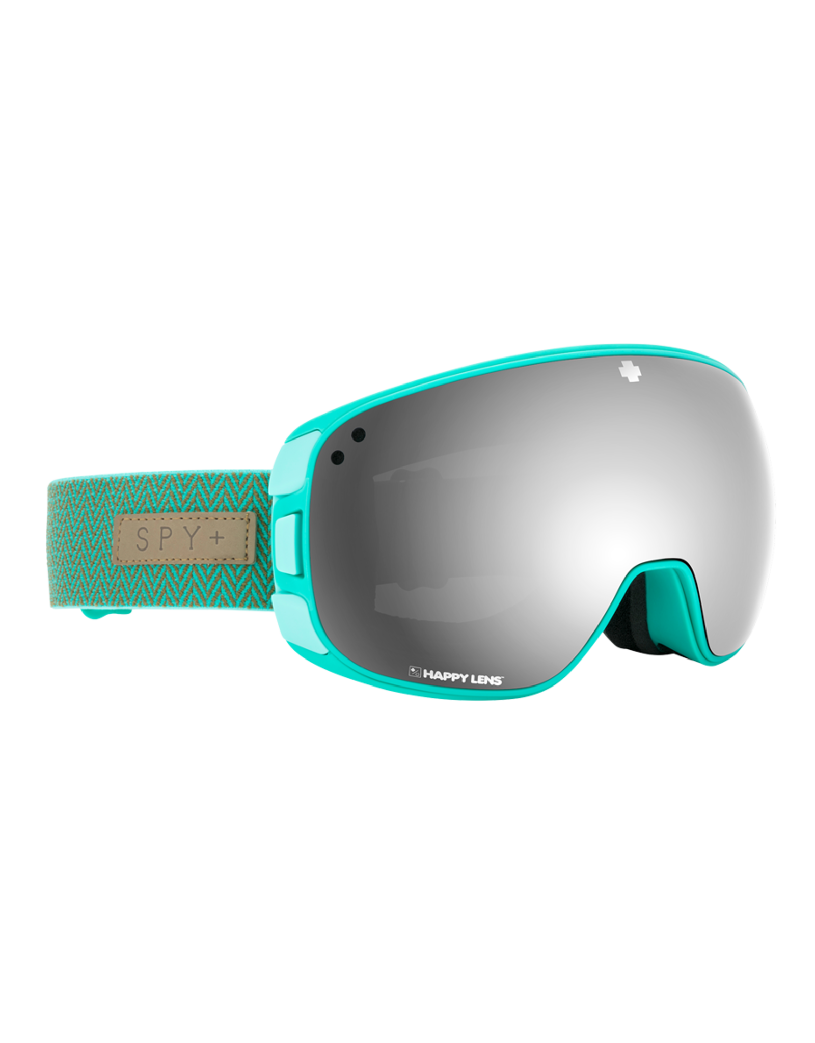SPY Bravo Herringbone Mint w/HD Plus Gray Green /Silver Spectra Mirror and HD Plus LL Yellow/Green Spectra Mirror
