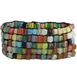 Stretchy Multicolored Beaded Bracelet