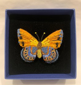 Pin Asterope Orange Butterfly
