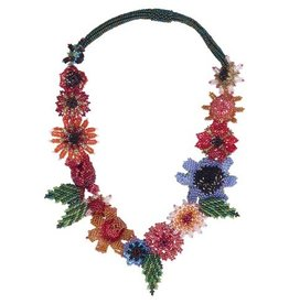 Beaded Floral Necklace