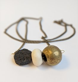 Necklace Volcanic Ash With Stones