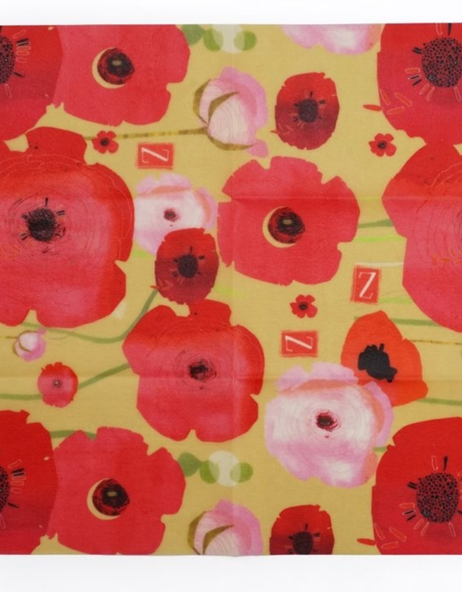 Zwrap Asst Painted Poppies
