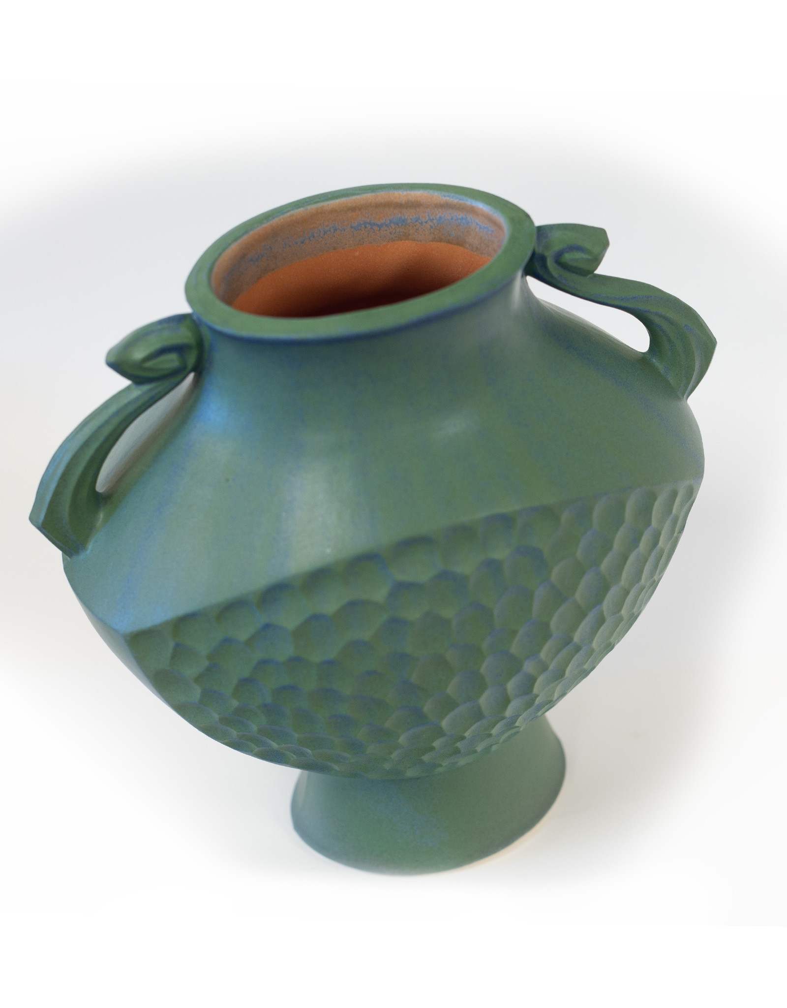 Lonesomeville Pottery Vase Greek Lg Blue-Green