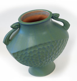 Vase Greek Lg Blue-Green