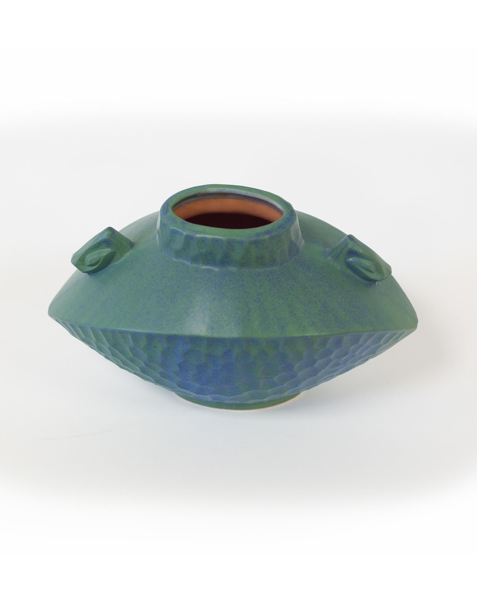 Lonesomeville Pottery Vase Greek Sm Blue-Green