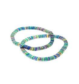 Rainbow Coil Stretch Bracelet