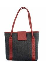 Tote Bag Salmon Wool red