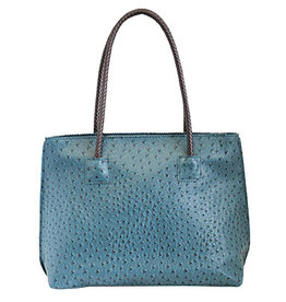 Vegan Leather Ostrich Tote