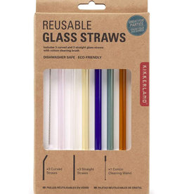 Colored Reusable Glass Straws