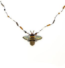 Beaded Large Honey Bee Necklace