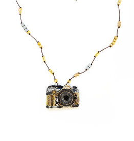 Beaded Camera Necklace