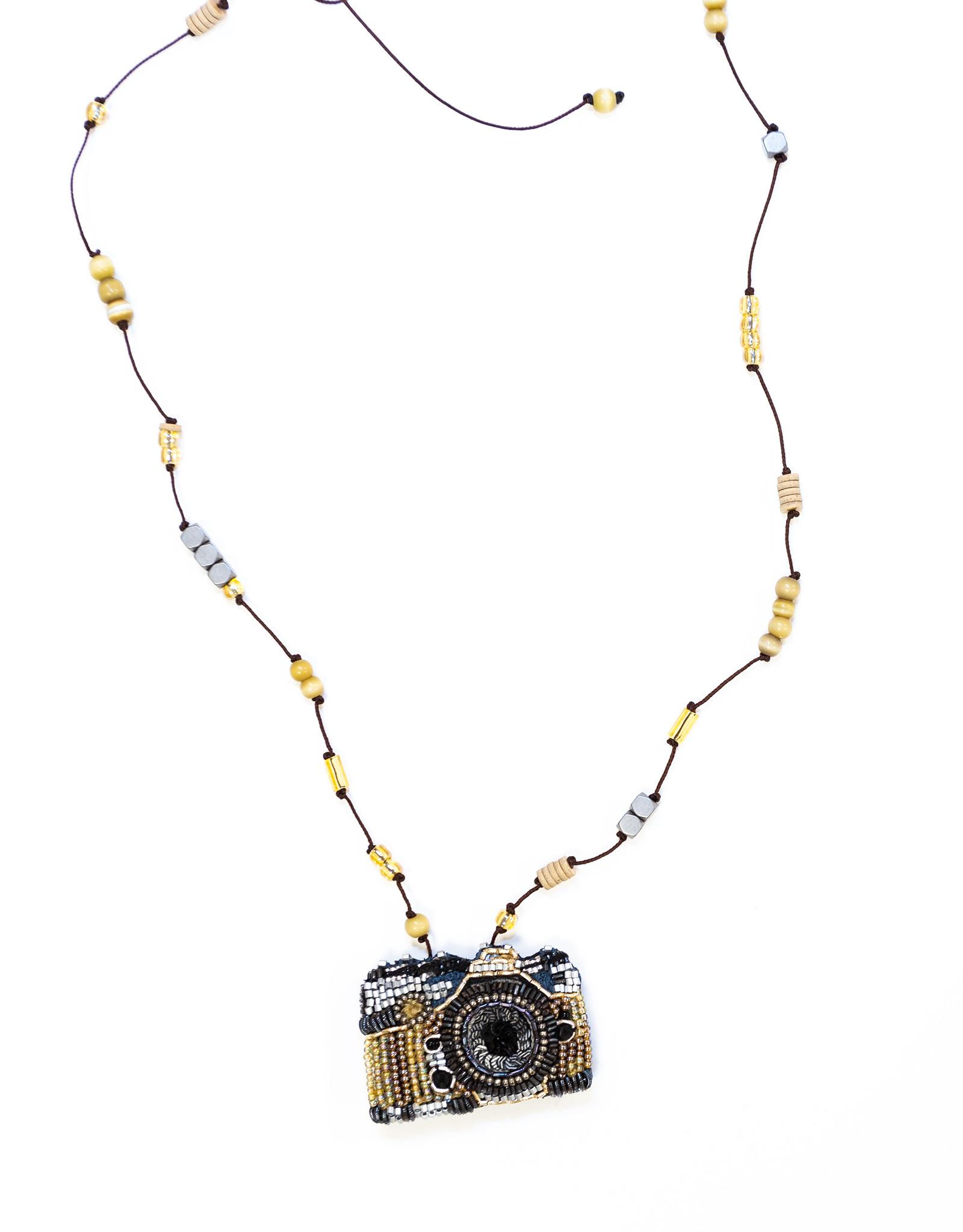Beaded Camera Necklace