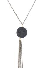 Volcanic Ash Rough Disc Necklace