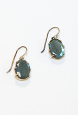 Earrings Lourdes Labradorite Oval