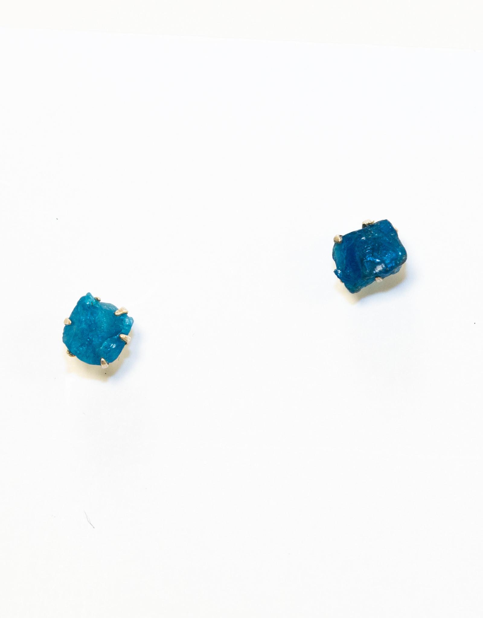 Earrings Evolved Blue Apatite Stone